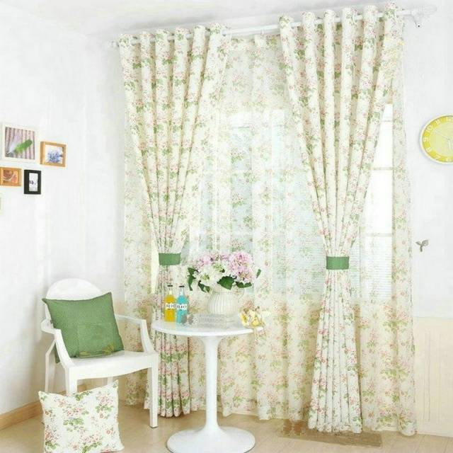 Modern style Small floral printed Curtain