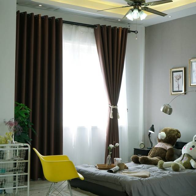 Solid modern blackout curtains