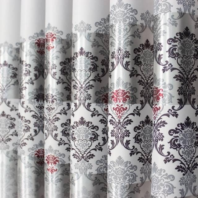 European Modern elegant noble printing shade curtain