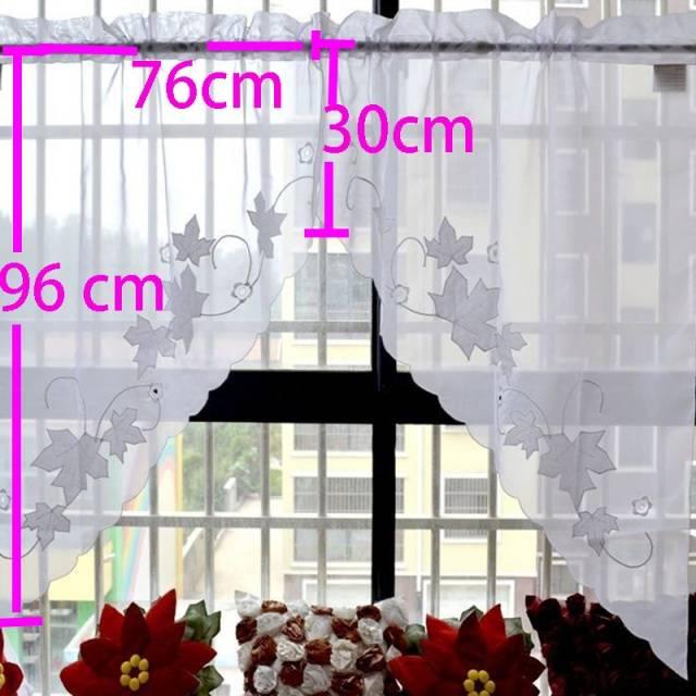 half window valance curtain