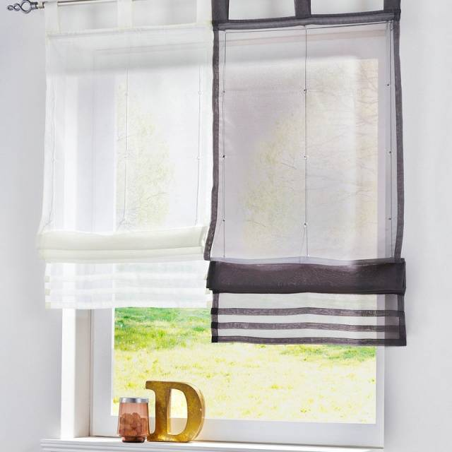 European Popular Solid Color Kitchen Balcony Voile