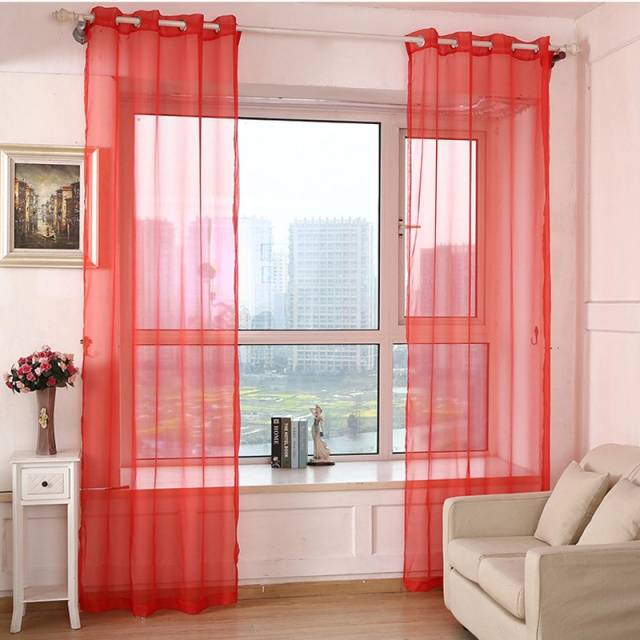Sheer yarn tulle Curtains