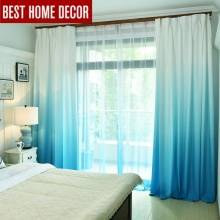 Gradient Color Window Curtains For Living Room Bedroom Kitchen Tulle And Blackout