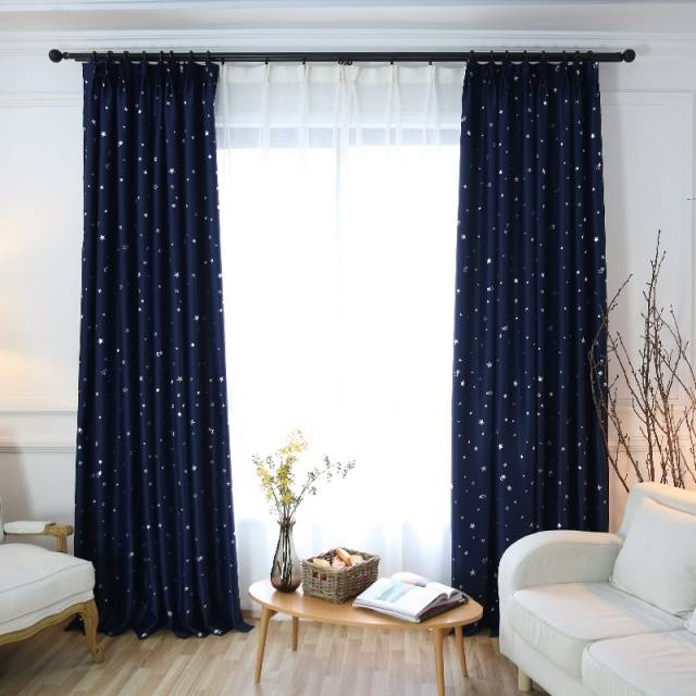 Shiny Stars Blackout curtains