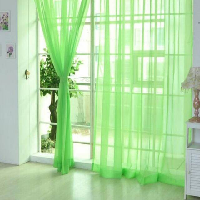 Elegant Romantic Bedroom Cheap Ready Made Finished Organza Child Window Cortina Curtain for Living Room wedding Home Decor