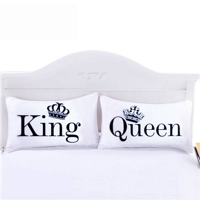 King and Quee pillowcase