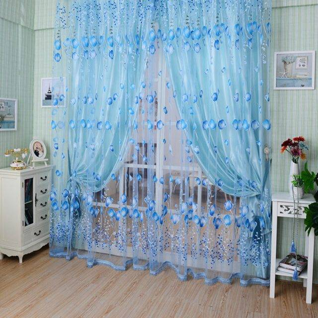Tulip Printed Full Light Shading Curtains