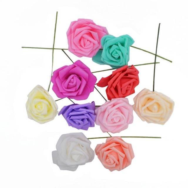 Artificial Foam Rose Flowers