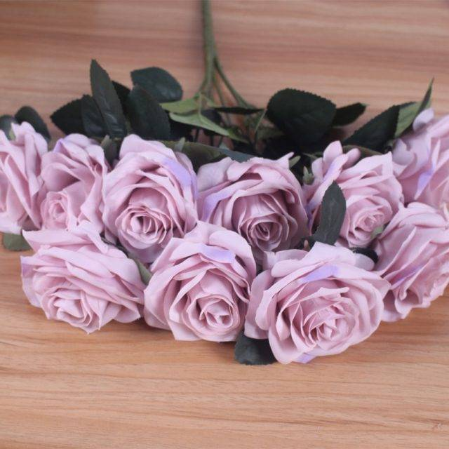 Artificial silk French Rose Floral Bouquet