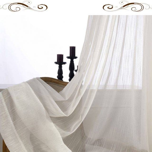 white color tulle sheer curtain