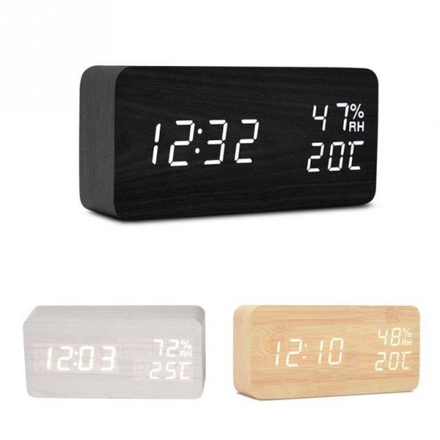 Smart Wooden Alarm Clock