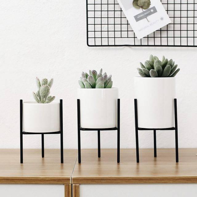 Nordic Style Ceramic Iron Art Vase