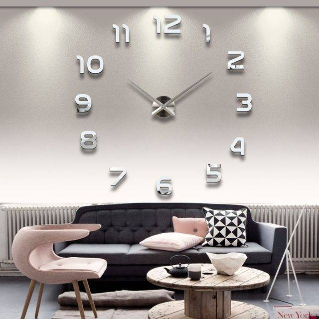 Minimalistic Acrylic Wall Sticker Clock Home Decor Sale