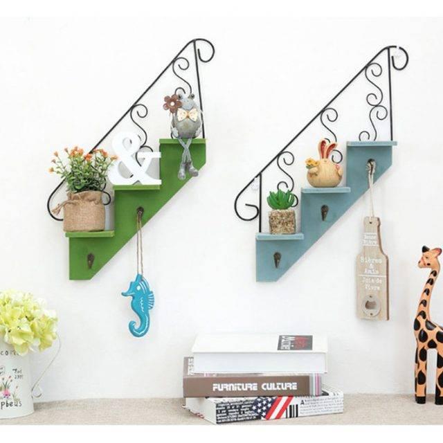Vintage Design Wooden Wall Shelf