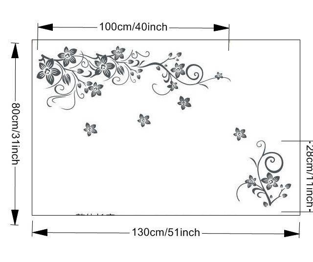 Romantic Sakura Flower Wall Sticker