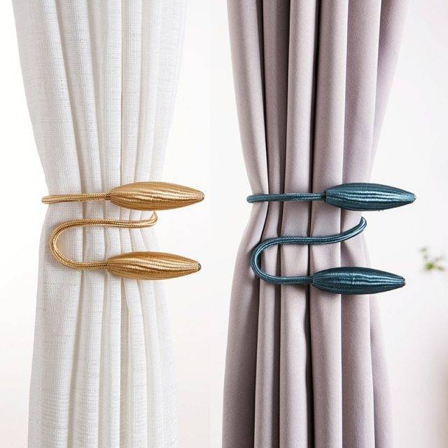 Arbitrary shape strong Curtain Tiebacks Plush Alloy Hanging Belts Ropes Curtain Holdback Curtain Rods Accessoires