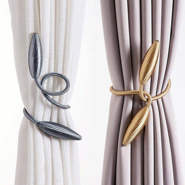 Arbitrary shape strong Curtain Tiebacks Plush Alloy Hanging Belts Ropes Curtain Holdback Curtain Rods Accessoires Curtain Accessories