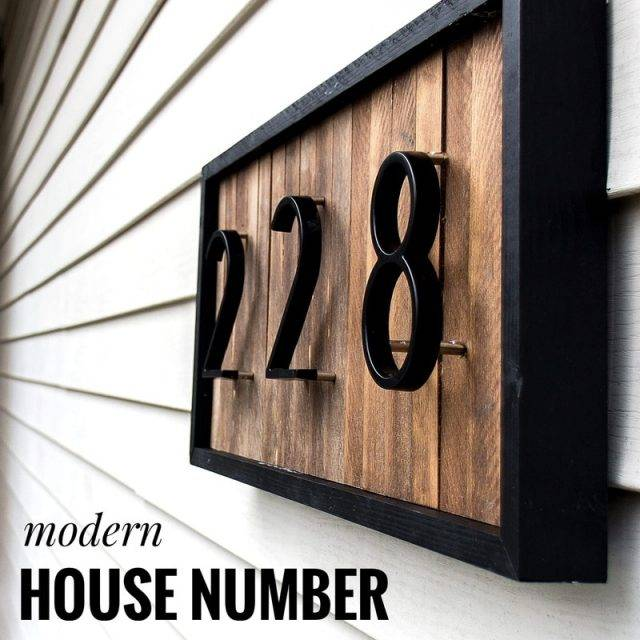 Big Modern House Number Hotel Home Door Number Outdoor Address Plaque Zinc Alloy Number for House Address Sign #0-9