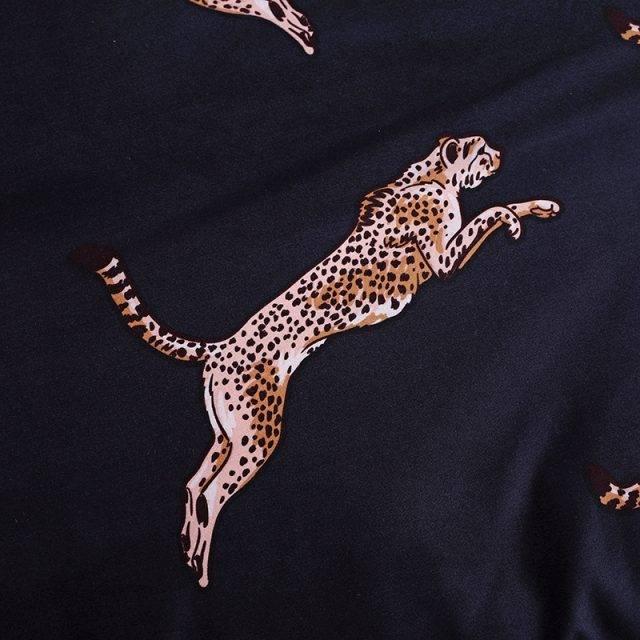 LOVINSUNSHINE Duvet Cover King Size Queen Size Comforter Sets Leopard Printing Bedding Set AB#196