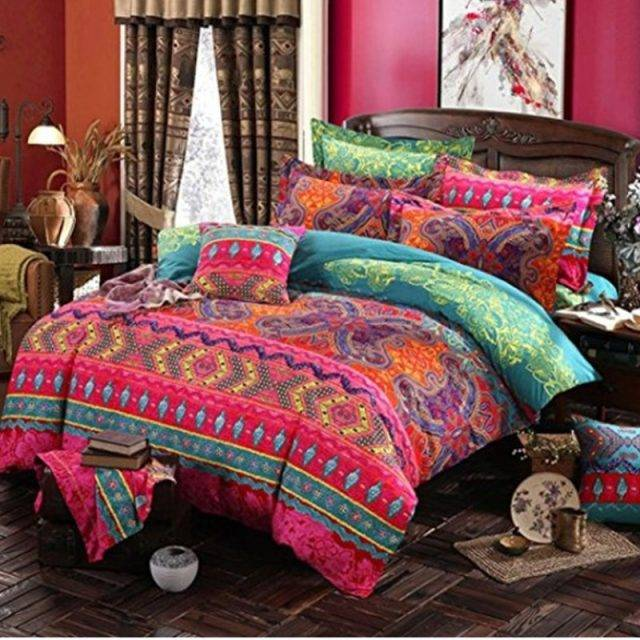 Bohemian 3d comforter bedding sets Mandala duvet cover set winter bedsheet Pillowcase queen king size Bed linen bedspread Bedding